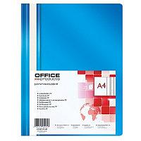 Скоросшиватель пластиковый A4, 100/170мкм, синий Office, PBS