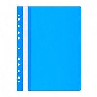 Скоросшиватель пластиковый, с перфорацией, A4, 100/170мкм, синий Office, PBS