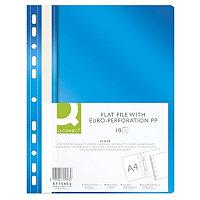 Скоросшиватель пластиковый, с перфорацией, A4, 120/170мкм, синий Q-Connect, PBS