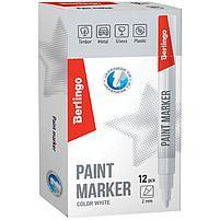 Маркер-краска Berlingo, белая, 2мм, нитро-основа, фото 2