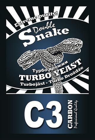 Дрожжи спиртовые турбо DoubleSnake C3 Carbon 120гр