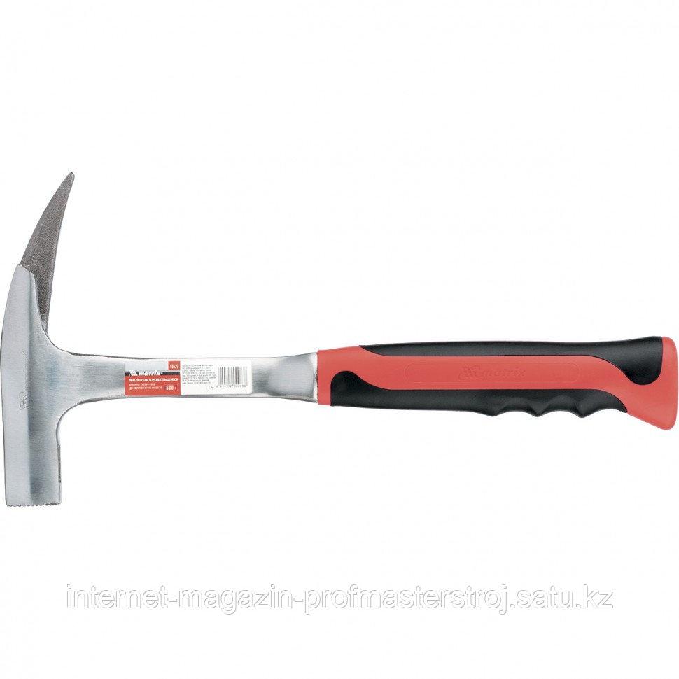Молоток кровельщика, 600 г, цельнометаллический, двухкомпонентная рукоятка, MATRIX