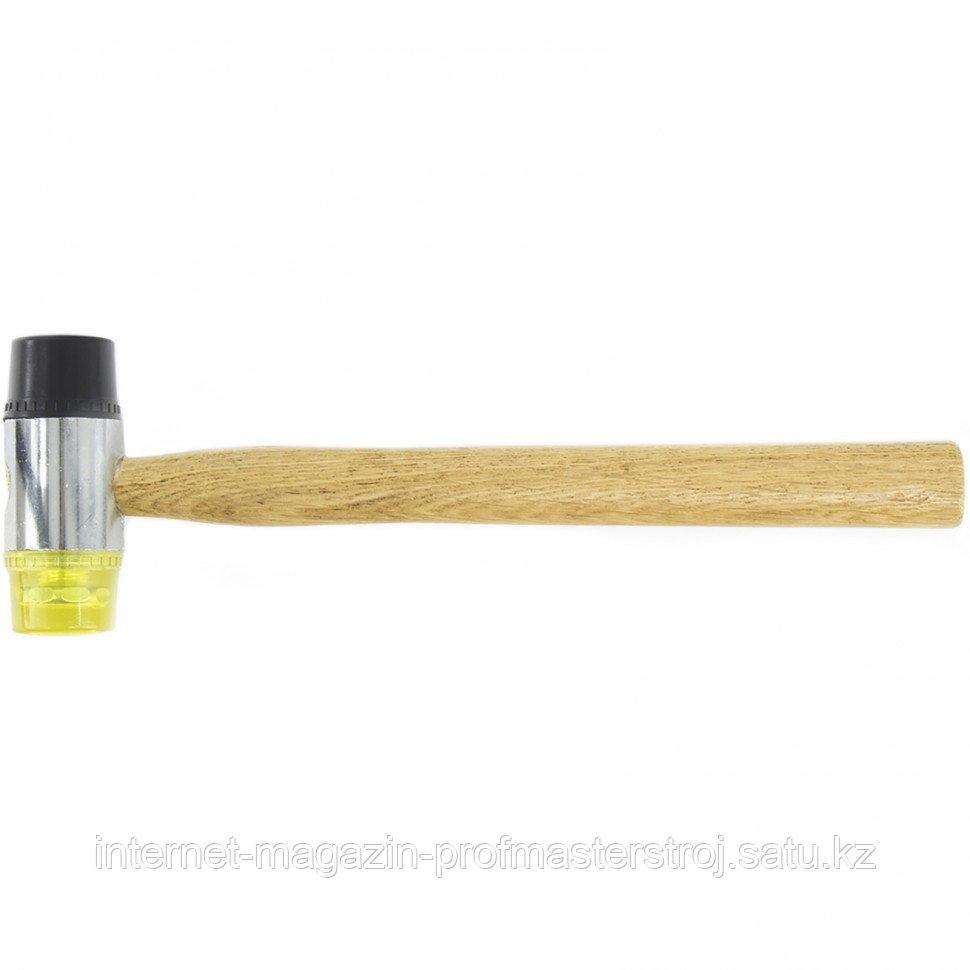 Молоток рихтовочный, бойки 35 мм, комбинированная головка, деревянная ручка, SPARTA
