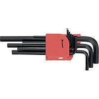 Набор ключей имбусовых HEX, 1,5–10 мм, CrV, 9 шт., удлиненные, MATRIX