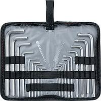 Набор ключей имбусовых HEX-TORX, 18 шт., HEX 1,5-10 мм, T10-T50, CrV, удлиненных, с сатиновым покрытием,, фото 1