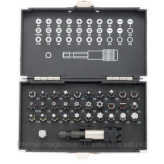 """Набор бит, 1/4"""", магнитный адаптер, сталь S2, пластиковый кейс, 32 предмета, GROSS"""