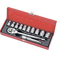 """Набор торцевых головок, 1/2"""", головки 10 - 24 мм, с трещоточным ключом, 12 предметов, MATRIX Master"""