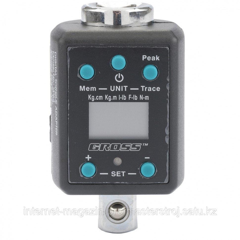 """Ключ адаптер динамометрический электронный, 40-200 Нм, 1/2"""", GROSS"""