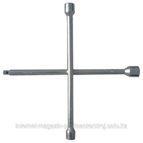 Ключ-крест баллонный, 17 x 19 x 21 x 22 мм, толщина 14 мм, СИБРТЕХ