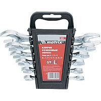 Набор ключей рожковых, 6 - 17 мм, 6 шт., CrV, хромированные, MATRIX