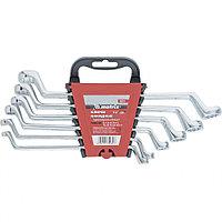 Набор ключей накидных, 6 - 17 мм, 6 шт., CrV, полированный хром, MATRIX