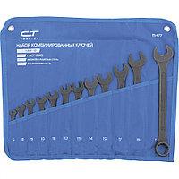 Набор ключей комбинированных, 6 - 22 мм, 12 шт., CrV, фосфатированные, ГОСТ 16983, СИБРТЕХ