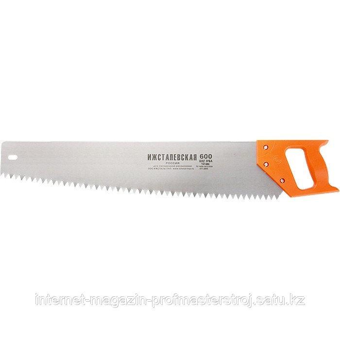 Ножовка по дереву, 600 мм, шаг зубьев 12 мм, пластиковая рукоятка (Ижевск), РОССИЯ