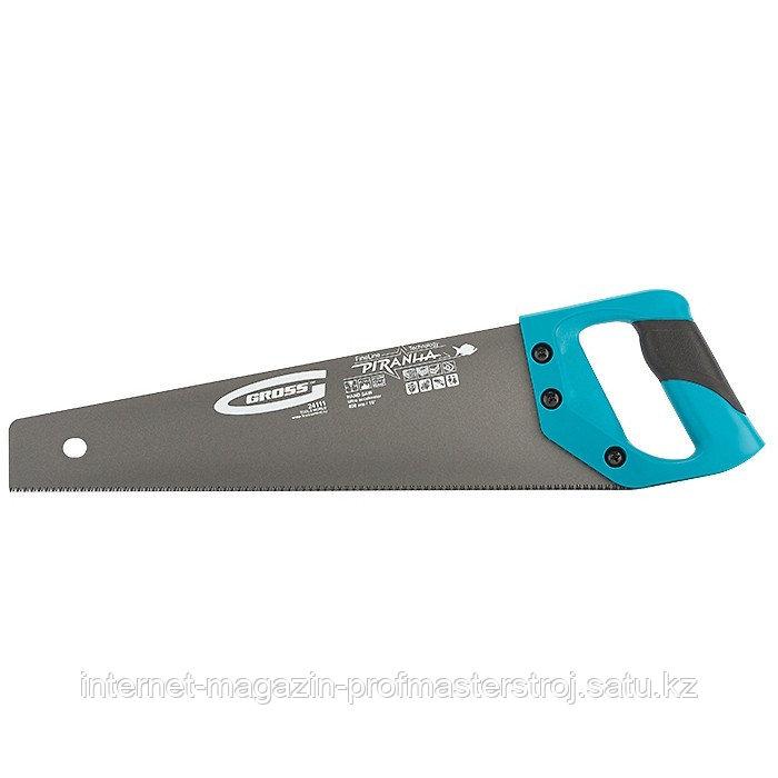 Ножовка по дереву PIRANHA, 400 мм, 11-12 TPI, зуб 3D, каленый зуб, тефлоновое покрытие полотна, 2-х комп.