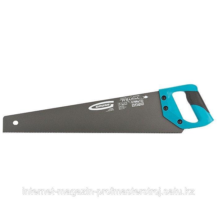 Ножовка по дереву PIRANHA, 500 мм, 11-12 TPI, зуб 3D, каленый зуб, тефлоновое покрытие полотна, 2-х комп.