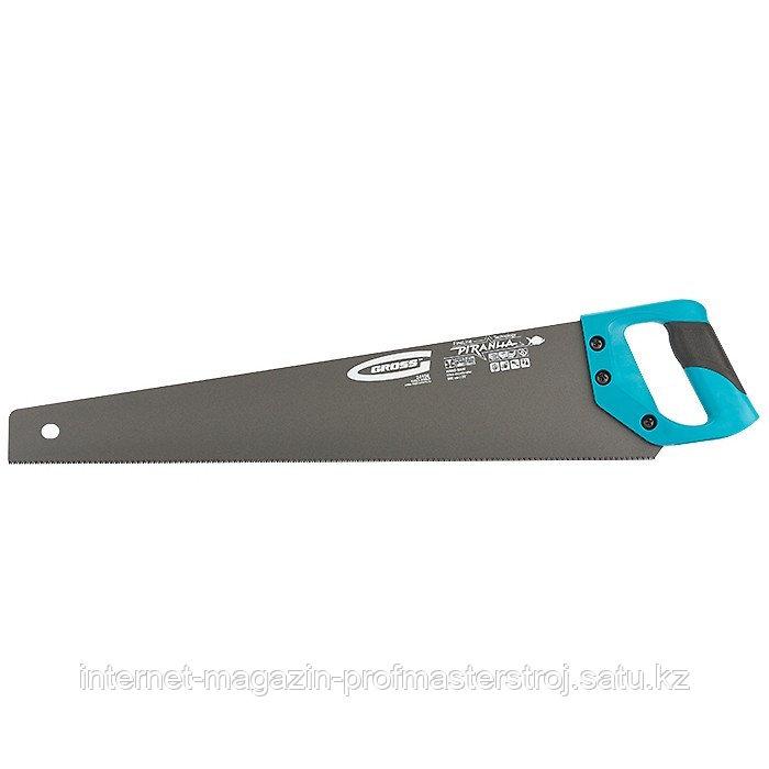 Ножовка по дереву PIRANHA, 550 мм, 11-12 TPI, зуб 3D, каленый зуб, тефлоновое покрытие полотна, 2-х комп.