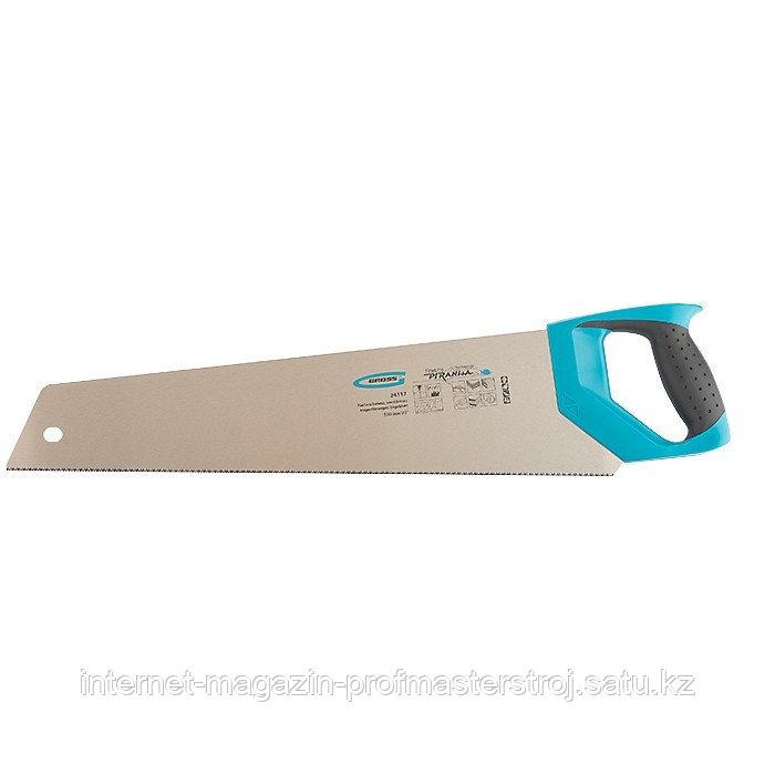 Ножовка по дереву PIRANHA, усиленное трапецевидное полотно, 500 мм, 11-12 TPI, зуб 3D, каленый зуб, 2-х комп.