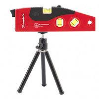Уровень лазерный, 180 мм, 220 мм штатив, 4 глазка, MATRIX