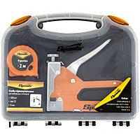 Набор: степлер мебельный регулируемый, скобы 500 шт, рулетка 2 м, тип скобы 53, 6-14 мм, SPARTA