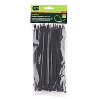 Хомуты, 200 x 3,6 мм, пластмассовые, черные, 100 шт., СИБРТЕХ