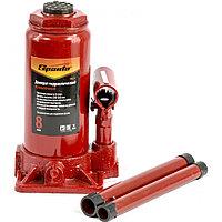 Домкрат гидравлический бутылочный, 8 т, h подъема 205-400 мм, SPARTA