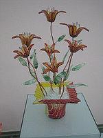 Стеклянная фантазия «цветы луговые золотистые»