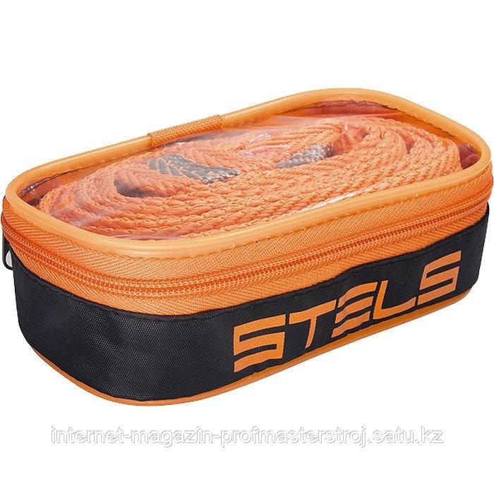 Трос буксировочный 12 тонн, 2 петли, сумка на молнии, STELS Россия
