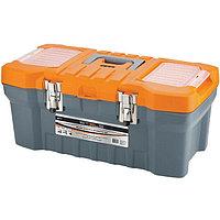 """Ящик для инструмента, с металлическими замками, 280x235x560 мм (22""""), пластик, STELS Россия"""
