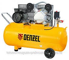 Компрессор пневматический, 2.2 кВт, 370 л/мин, 100 л, DENZEL