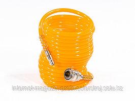 Шланг спиральный воздушный, 5 м, D 6 мм, с быстросъемными соединениями, MATRIX
