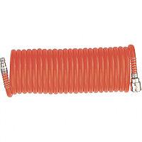 Шланг спиральный воздушный, 10 м, D 6 мм, с быстросъемными соединениями, MATRIX