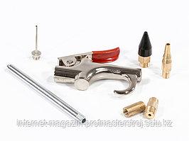 Набор продувочный пистолет, пневмат. в комплекте с насадками, 6 шт., MATRIX