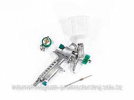 Краскораспылитель AG 810 HVLP, гравитационный, сопло 0.8 мм и 1 мм, STELS