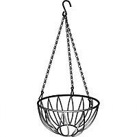 Подвесное кашпо, диаметр 25.4 см, высота с цепью и крюком 53.5 см, PALISAD
