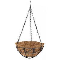 Подвесное кашпо с орнаментом, диаметр 25 см, с кокосовой корзиной, PALISAD