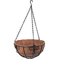 Подвесное кашпо с декором, диаметр 30 см, с кокосовой корзиной, PALISAD