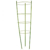 Поддержка для растений круглая, h 90 см, металл в пластике, 4 кольца, PALISAD