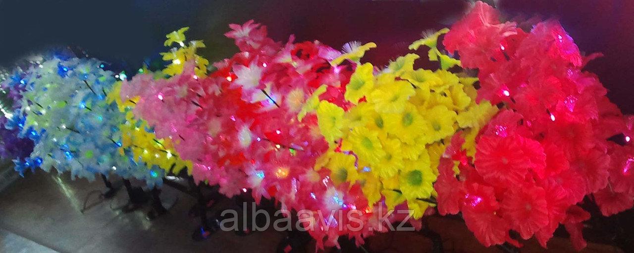Светодиодные LED кусты, 0,8 м. Цвет; Красный, розовый, желтый, белый, синий, молочный, синий-красный