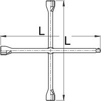 Ключ колёсный четырёхсторонний (крестовой) 213/6, фото 2