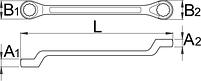 Ключ накидной с изгибом 179/2, фото 2