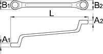 Ключ накидной с изгибом 180/1, фото 2