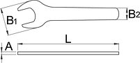Ключ рожковый газовый 135/2, фото 2