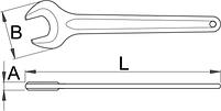 Ключ рожковый односторонний 117/4, фото 2