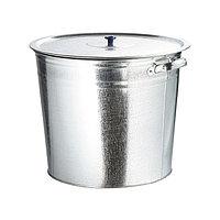 Бак для воды оцинкованный с крышкой (крышка с ручкой) 32 л, без крана, РОССИЯ