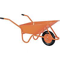 Тачка садово-строительная TCO-02/01, крашенный кузов, цельнолитое колесо, грузоподъемность 120 кг, объем 90 л,
