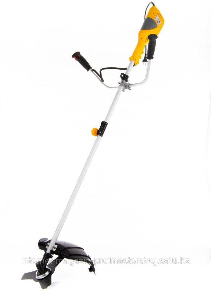 Триммер электрический ТЕ-1400, 1400 Вт, 420 мм, катушка+диск, разборная штанга, DENZEL