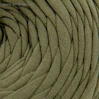 Пряжа трикотажная широкая 50м/160гр, ширина нити 7-9 мм (300 хаки) МИКС