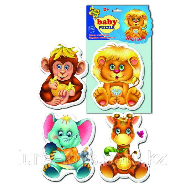 "Игр.набор ""Мягкие пазлы""  ""Baby puzzle Зоопарк"""