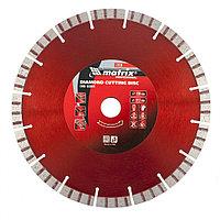 Диск алмазный отрезной турбо-сегментный, 230x22.2 мм, сухая резка, MATRIX Professional, фото 1