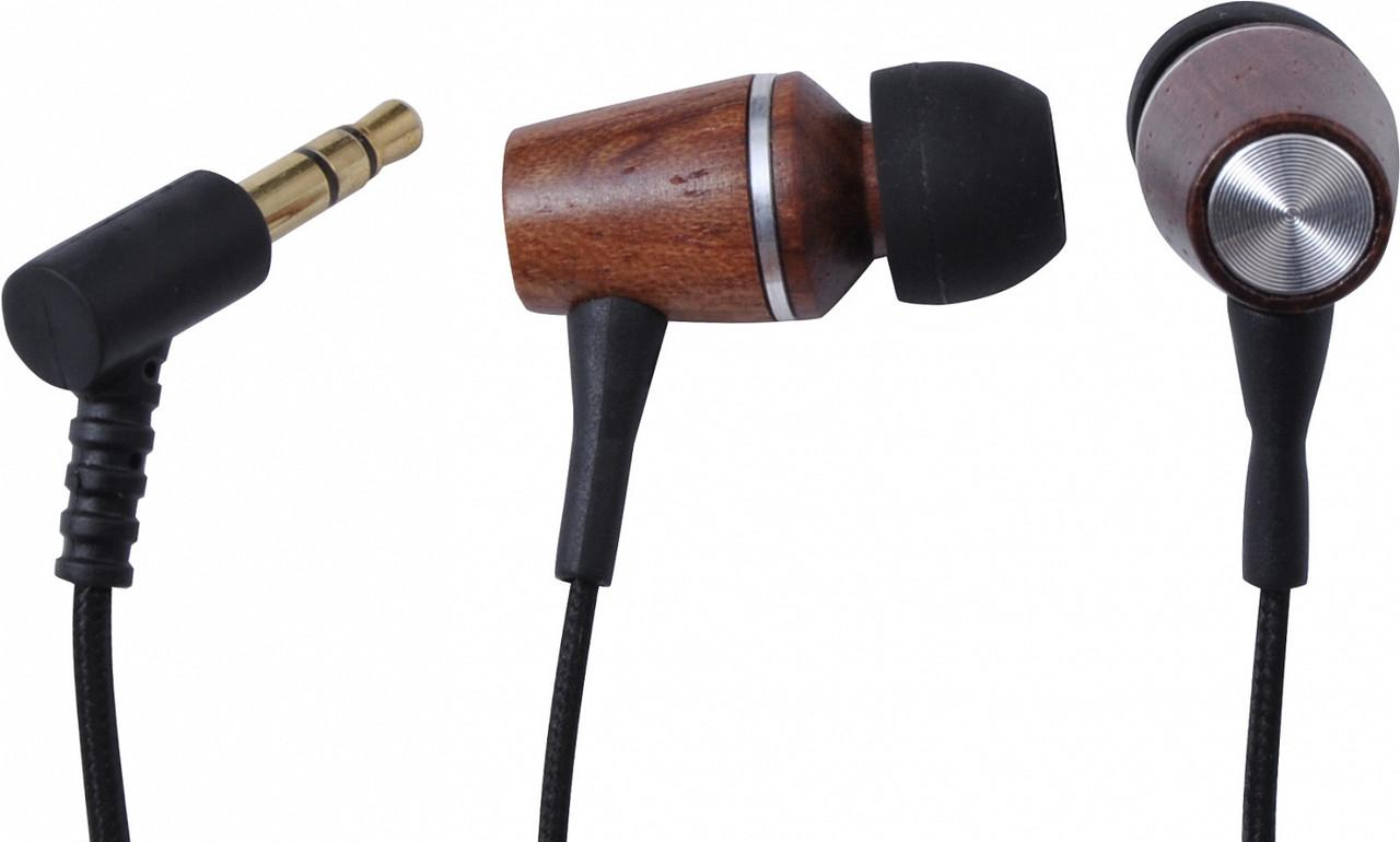 Наушники Ritmix RH-160 Wooden, Черный-деревянный